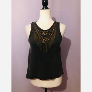 Urban outfitters ecote embellished tank top